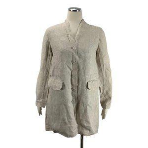 Eileen Fisher Small Linen Jacket Kimono Long Blous